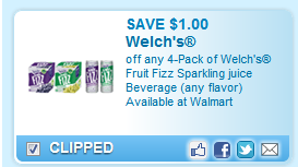 Welch's fruit fizz coupon