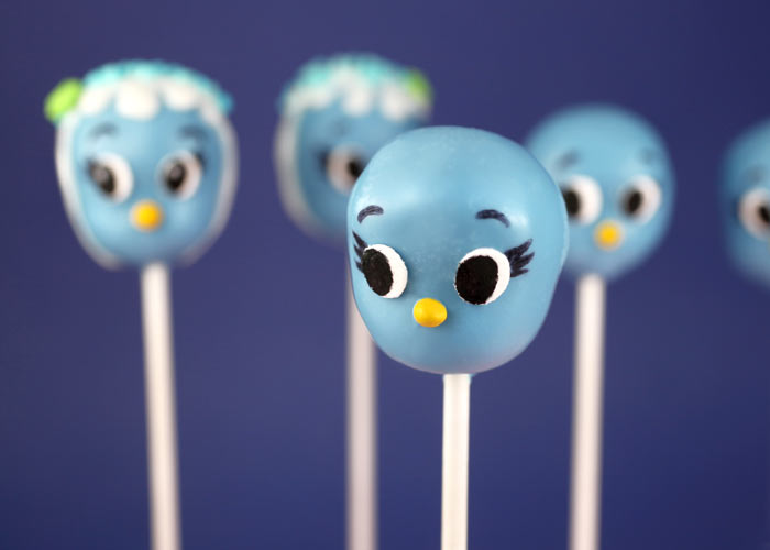 Blue Bird Cake Pops