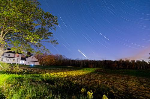 sky night farmhouse stars star farm maine nighttime deerisle startrails nikcolorefexpro topazadjust topazdenoise