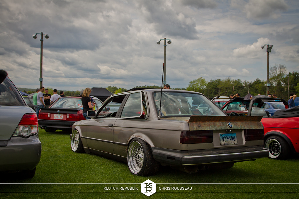 rusted e30 bmw coupe low and fitted on bbs rs wheels at staggered 2012