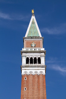 Image of St Mark's Campanile near Venice. venice italy st square marks