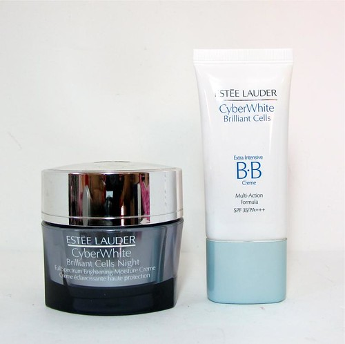 review of a couple of Estee Lauder CyberWhite Brilliant Cells products