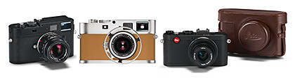 Leica M Monochrom with the APO-Summicron-M 50mm f/2 ASPH lens, Leica M9-P »Edition Hermès«, and the Leica X2.