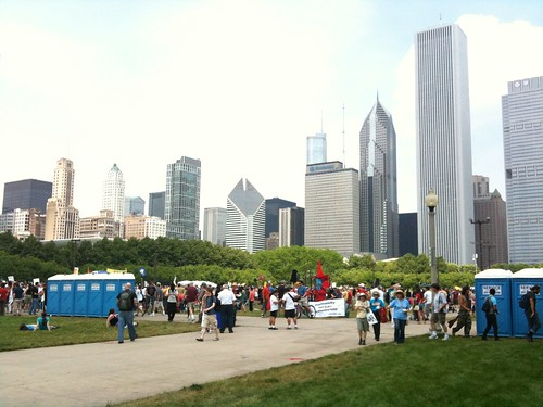 At the Chicago Rally Against NATO