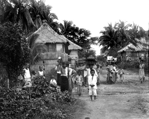 A busy day in San Nicholas, Cebu. Philippines, late 19th or early 20th Century,
