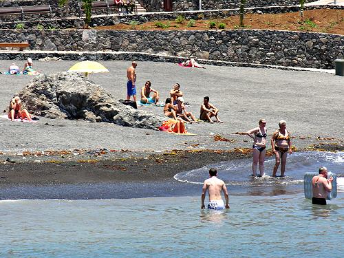 New beach at Callao Salvaje