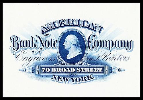 American Banknote Company ad card
