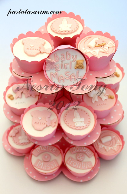 baby shower cupcakes - baby masal