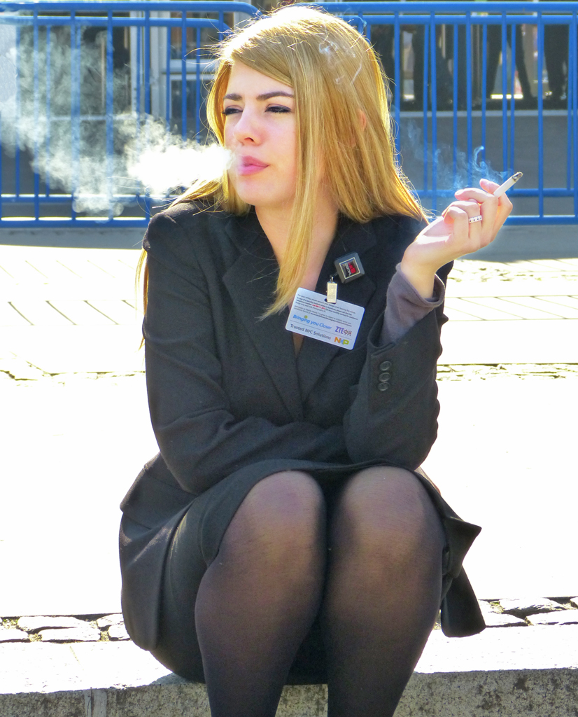 Tabacco in pantyhose