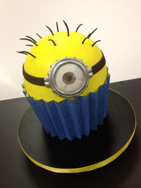 Giant Minion Cupcake
