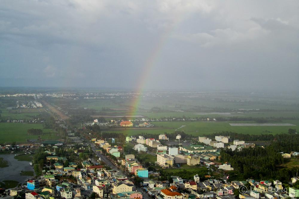 Rainbow at Chau Doc from Sam mountain