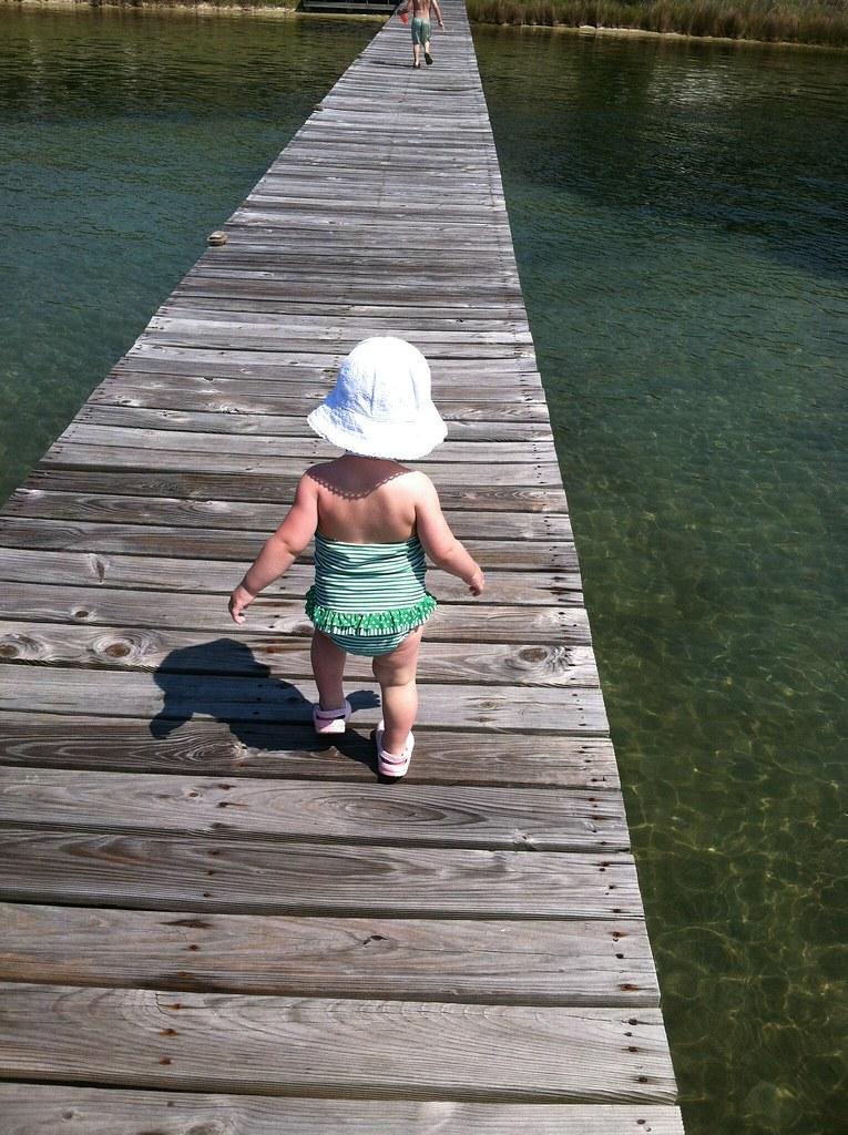 Em on dock