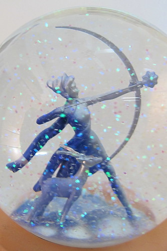 Walt Disney's Fantasia sculpture - Artemis the Huntress snow globe
