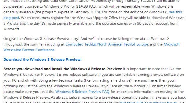 Windows8 Release Preview download