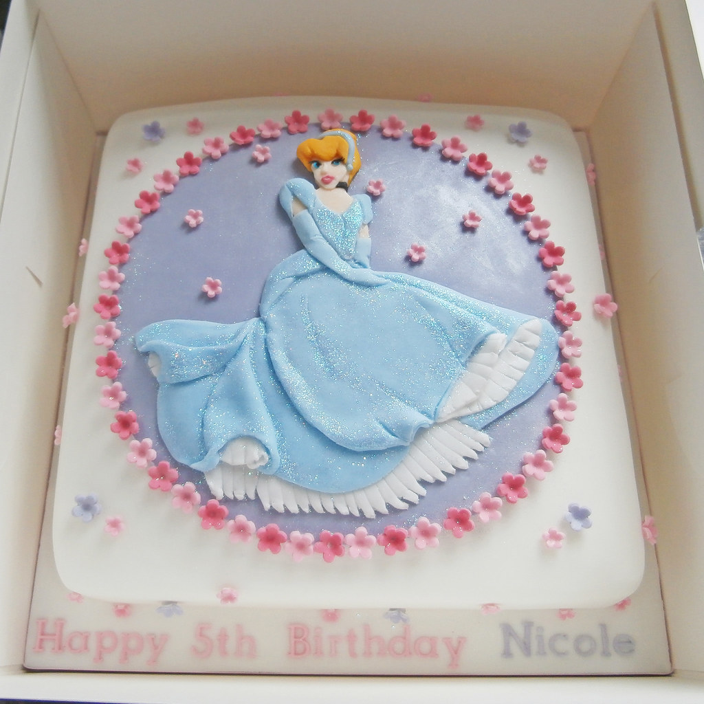 Cinderella Princess Birthday Cake a photo on Flickriver