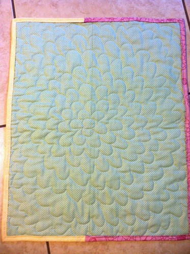 Back of the baby doll quilt.
