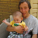 My nephew Damien and his nephew Quinn :). Welcome Home Party in Dundas, ON. Canada 12MAY12