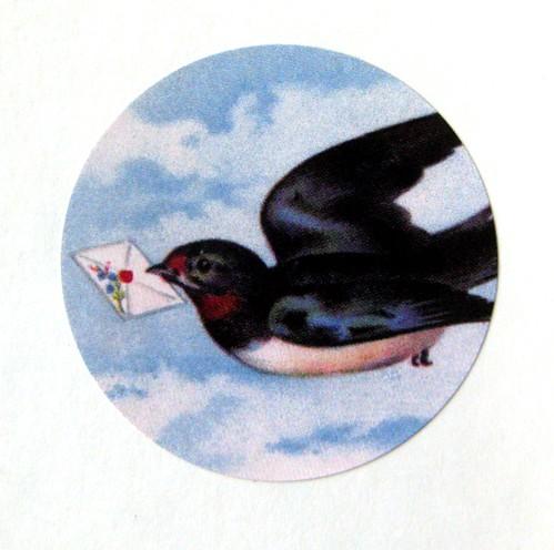 Letterbird round seal