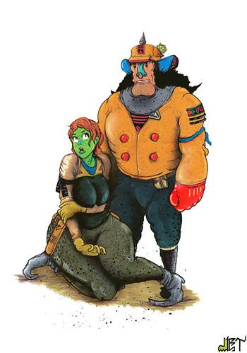 Ella Megalast & Her Bodyguard by det.roc.boi