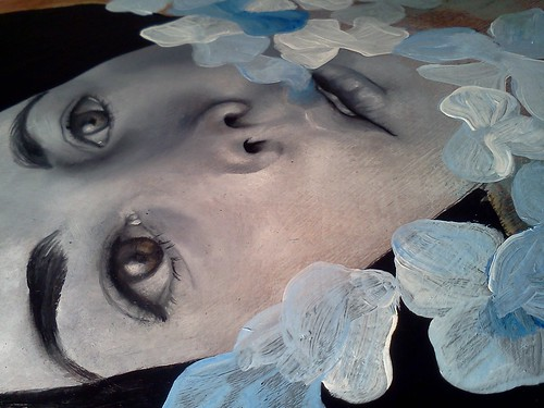 New piece in progress: face almost complete
