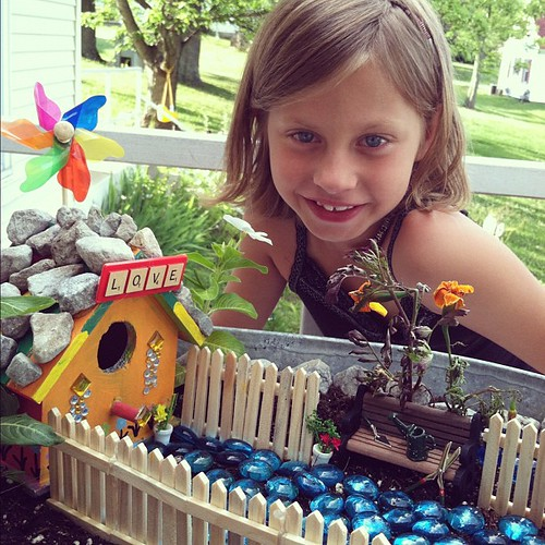 The engineer and mastermind behind the project. #hannah #fairygarden #fairyhouse #house #paint