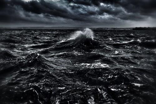 無料写真素材, 自然風景, 海, 暗雲