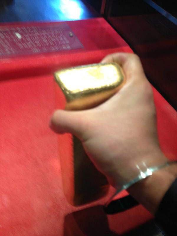 佐渡金山の金塊取り出し その5