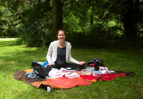 My beautiful wife at our first wedding anniversary picnic