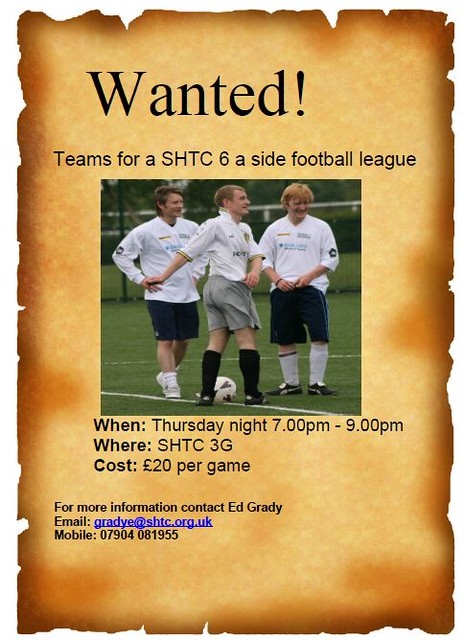 6 a side football league