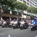 Formation of motorcycle officers at Kings parade