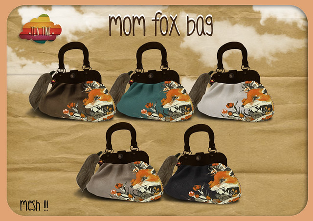 MOM FOX BAG *Tea Time* NEW!!! Mesh with pose<3