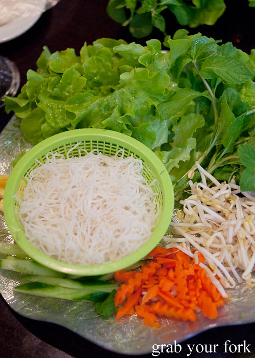 Vermicelli and salad at Hai Au Lang Nuong Canley Vale