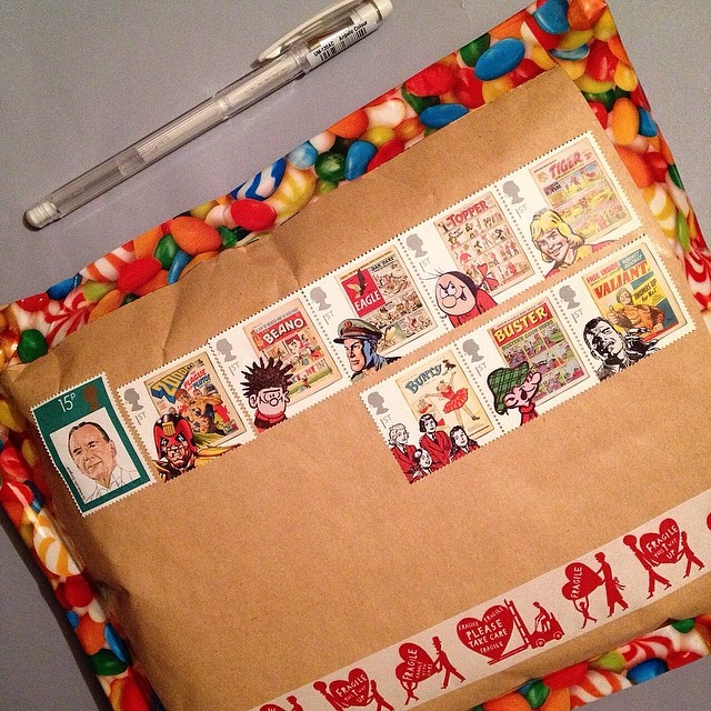 I finally finished a project I've been working on. Now I can make a start on the Easter card requests and swaps I agreed to send. #snailmail #comic #sendmoremail #showandmail #mail #postagestamps #stamps #vintagestamp #tape #itsamailday #royalmail #britis