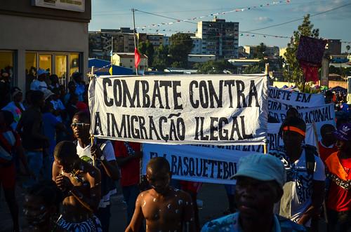 Carnaval do Lubango - contra a imigracão illegal