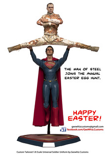 The exact moment Superman realizes he just found two Easter Eggs.  Happy Easter Everyone!