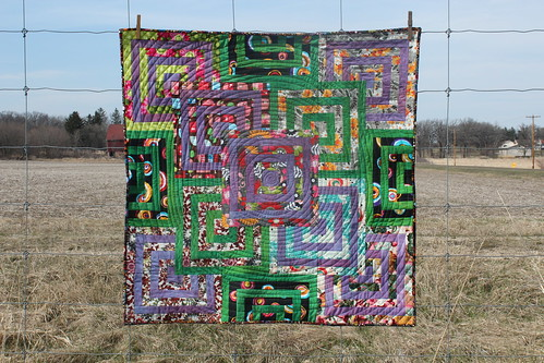 Birthday Colors Labrynth Quilt for Project QUILTING