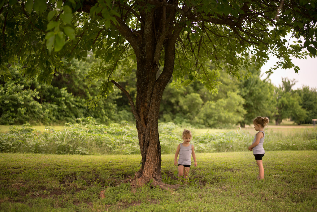 Sisters Under a Tree
