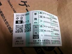 中京9R馬券