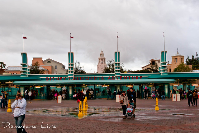 Buena Vista Street Construction - Main Entrance