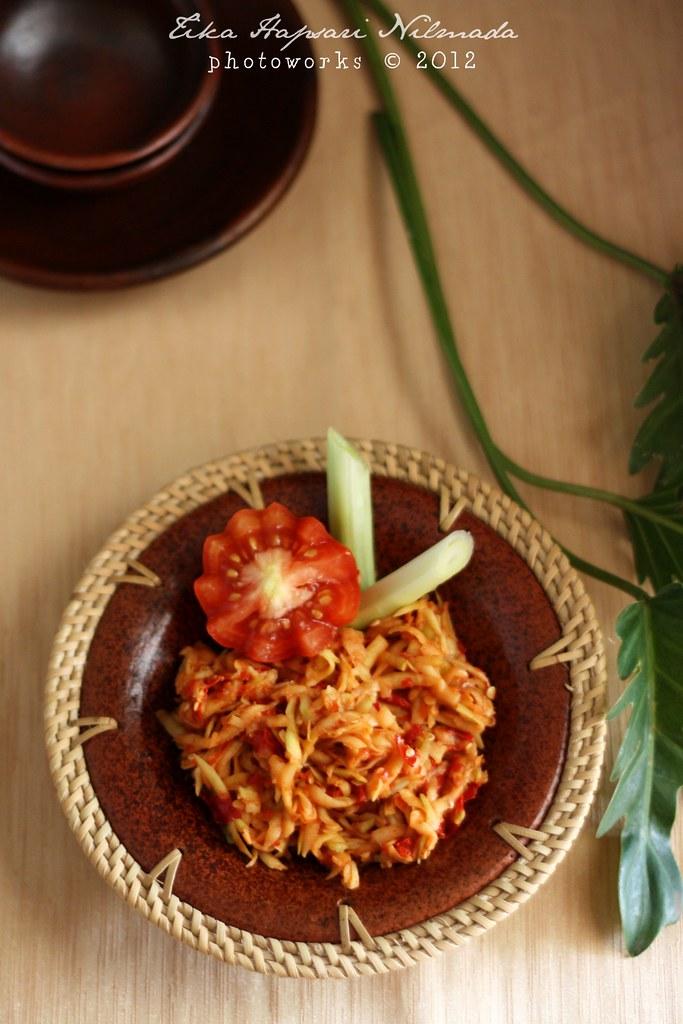 (Homemade) - Sambal Pencit / Unripe mango sambal