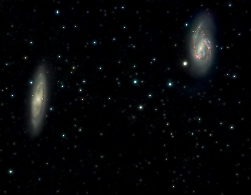 M65 and M66 with Halpha