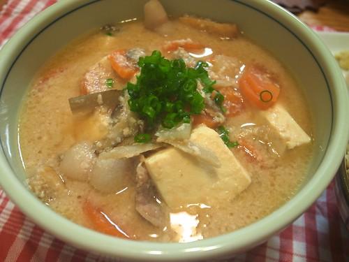 Sake cake and pork soup (Kasu jiru)