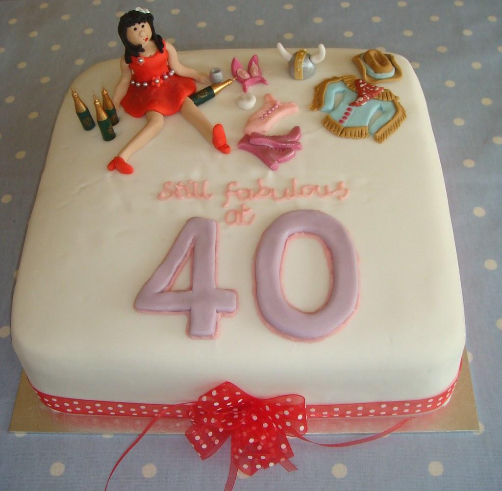 Still Fabulous At 40 Birthday Cake