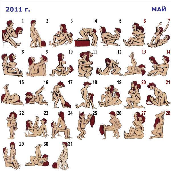 Секс позы календарь