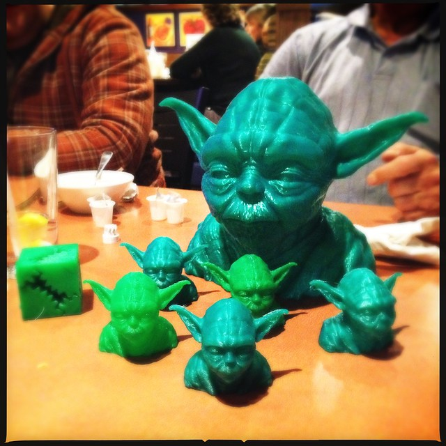 An army of 3d printed Jedi's