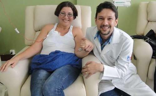 Leiria Rodrigues e o médico Sâmio Ferreira