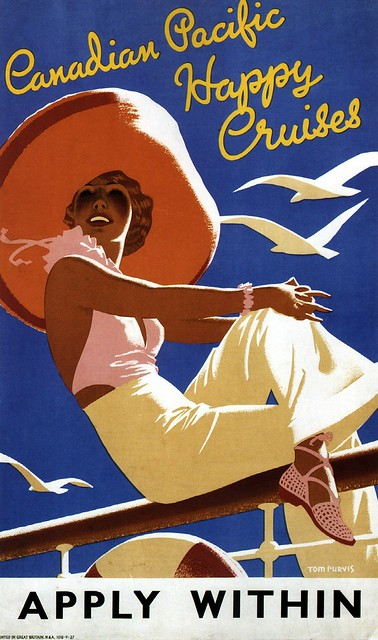 Tom Purvis. Canadian Pacific Happy Cruises. 1936