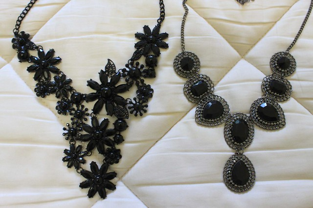 Black necklaces