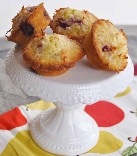 Individual Coconut-Raspberry Pound Cakes