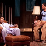 Billy Eugene Jones as Flip and Jason Dirden as Kent in the Huntington Theatre Company's production of STICK FLY playing at the Calderwood Pavillion. Part of the 2009-2010 season.